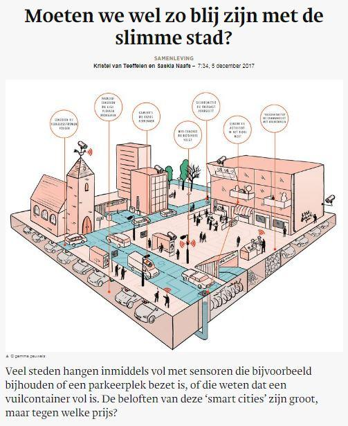 The article in Trouw (© illustration: Gemma Pauwels)